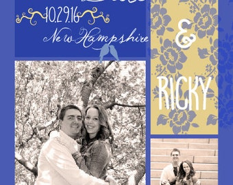 """Color Blocked-save the dates- 5x7"""""""