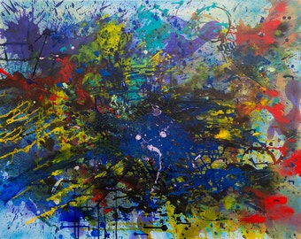 Abstract Acrylic Painting Print, Acrylic Painting Print, Acrylic painting