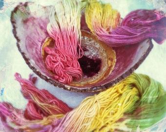 Hand-dyed yarn Merino
