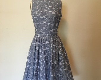 1960s /eyelet dress/with pockets /