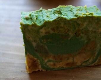 Tea Tree Soap, Antibacterial Soap, Aloe Extract Calendula, Green