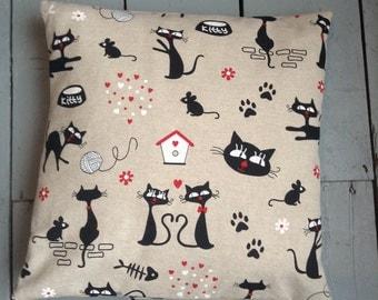 Decorative cat pillow cover
