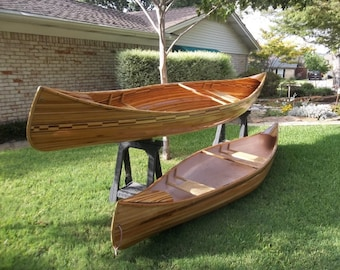Hand built cedar strip canoes