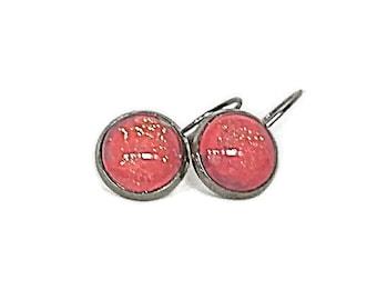Pink Earrings, Nail Polish Earrings, Leverback Earrings, Glitter Earrings, Sparkly Earrings, Earrings, Pink Glitter, Boho Earrings
