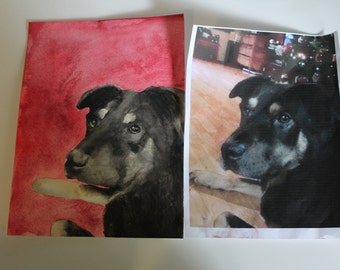 Custom Pet Watercolor