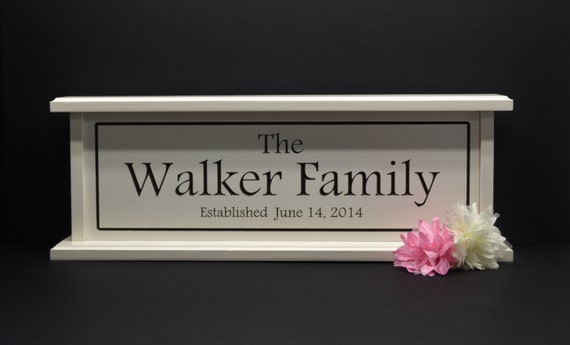 Wedding Gift Name Sign : Wedding Sign Family Name Sign Personalized Wedding Gift Established ...