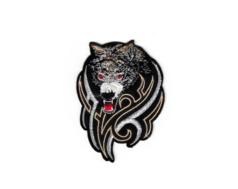 Wolf Wolves Animal Motorcycle Club Military Racing Embroidered Cloth Sew Iron On Patches Patch Appliques Outlaw Biker For Jackets jeans