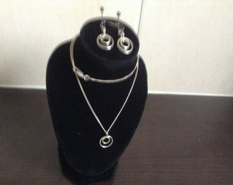 Pendant and matching earrings