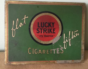 Lucky Strike Cigarette Tin. Vintage Tin