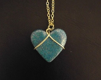 Wired Heart Necklace