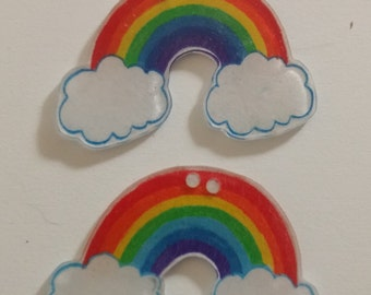 Rainbow In Clouds Shrinkydink Charms