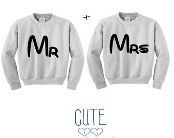 Mr. and Mrs. couple sweater hoodie friends
