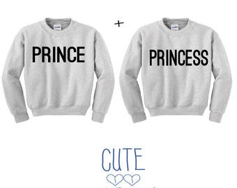 Prince & Princess couple hoddie sweater friends