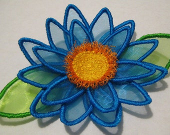 Free Standling Applique 3D Flower Project #391 ( Machine Embroidery Design from ATW )