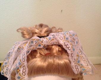 Handmade lace pony holder