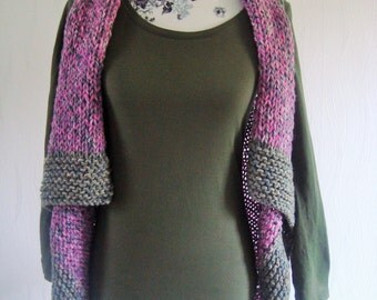 Sweater vest magenta vest tip vest pink grey woman
