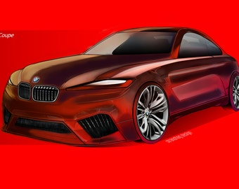 BMW car design, car illustration