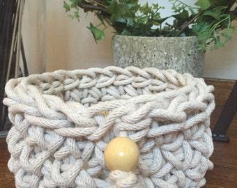 Chunky Crochet Rope Basket