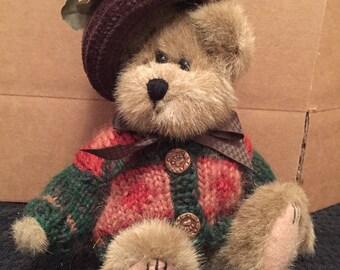 Boyds Bear Wearing Fall Sweater