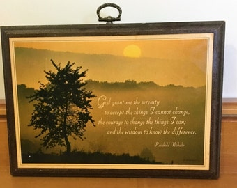 Vintage Hallmark Serenity Prayer Plaque Circa 1977