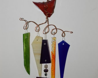 Red & Multi Wind Chime