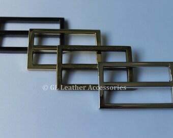 4 x High Quality 38.5mm Metal Tri Glide Slide Buckles