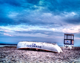 Ocean City Lifeboat Landscape Photo Print