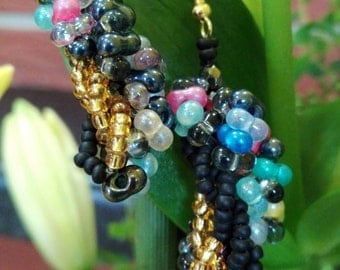 Colorful, twisted, crazy summer earrings