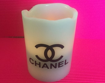 Flameless chanel inspired candle