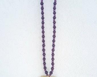 Purple Boho Necklace