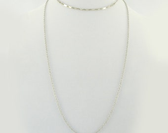 Hi Low Necklace/2 Layers/Gold/Silver