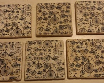 Bicycle Custom Stone Coasters