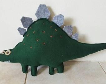 Plush felt dinosaur