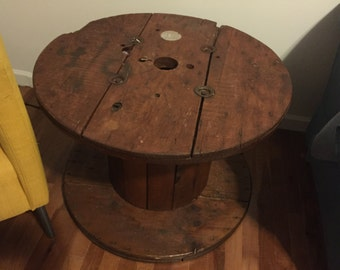 Reclaimed Cable Spool Table