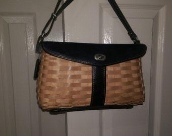 Longaberger SIGNATURE blue leather purse