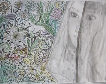 Resolving old patterns, separation, pain, healing image Virgin Mary