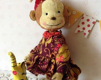 Teddy monkey Monkey Stuffed toy Collectible stuffed toy Plush monkey Poket monkey Teddy bear