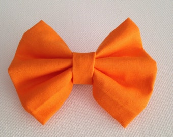 Neon Orange Mini Hairbow // small hair accessories