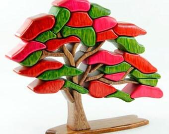 Spring tree - wood flair - wood sculpture-Árbol de Primavera