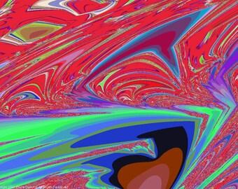 FRACTAL #13031 (Trippy ChromaDepth 3D Digital Download. 1024x768)