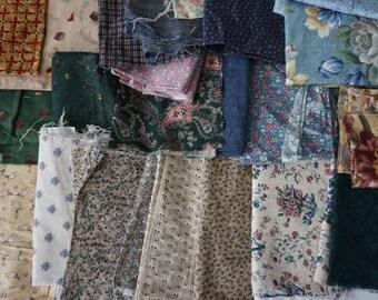 Cotton Print Fabric Scraps 5+ pounds