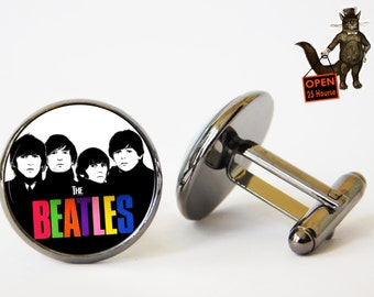 The Beatles Cufflinks,The Beatles Jewelry,Music Icons,Beatle,Gift for Beatle Fan,vinyl record,Fan The Beatles,Men's Jewelry,vinyl cufflink