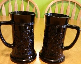 Tiara black diamond beer mugs