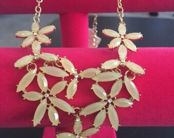 Interlink flower jewel necklace set!!