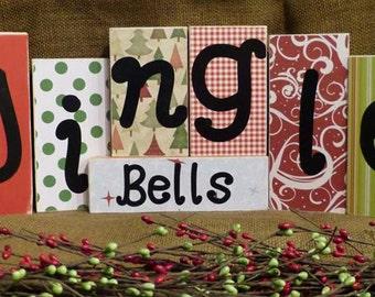 Thanksgiving and Christmas Home Decor - Seasonal Shelf Blocks - Affordable!
