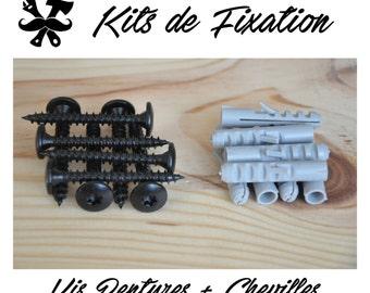 Kit fixing to wood, brick, concrete, IronWoodStache, screws