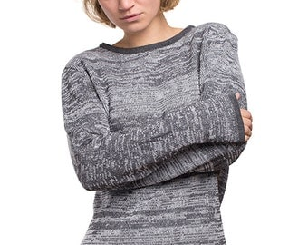 PAL - knit pullover made from recycled yarn - grey