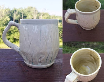 Ivory Woodgrain Mug