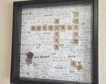 Customized Wedding Name Plaque