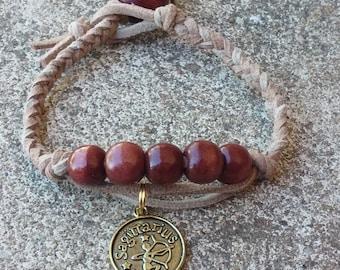 Braided Leather Zodiac Bracelet